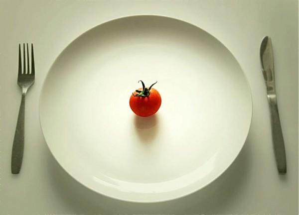 Πιάτο με πολύ μικρή μερίδα